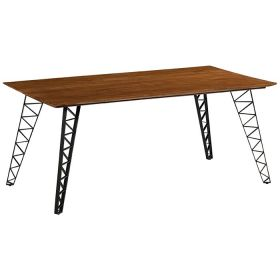 Table repas teck et métal 180cm Casita FAIRTA 180