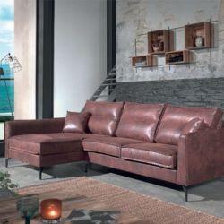 Canapé d'angle tissu marron gauche 260cm Falster Casita FALANGGOBHAV4RG