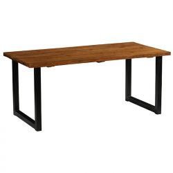 Table repas teck industrielle 220cm Casita ILOTA 220cm