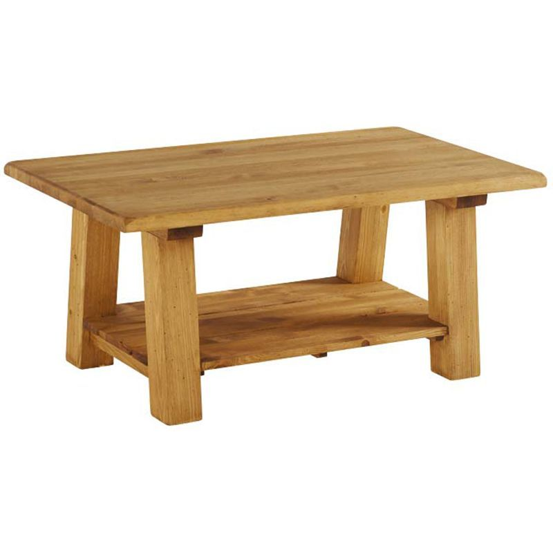 Table basse pin massif 100cm Casita BRUTABA 100