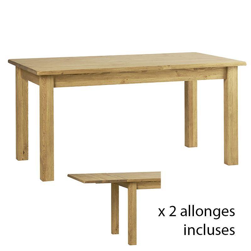 Table extensible pin 160/210/260cm Casita COTTA160 ALC