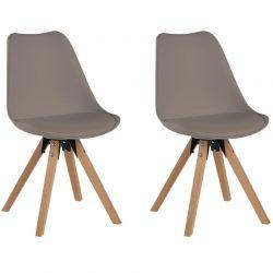 Lot de 2 chaises PVC Casita CHABENCAFE