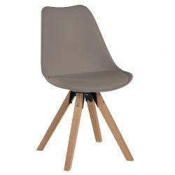 Lot de 2 chaises scandinave  PVC Casita CHABENCAFE