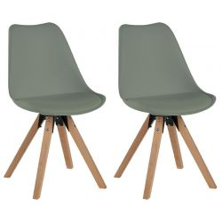 Lot de 2 chaises PVC Casita CHABENKAKI