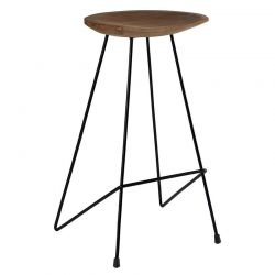 Lot de 2 tabourets industriel bar teck Casita BENTABOUHT