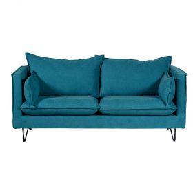 Canapé moderne bleu canard 184cm Casita Larry LARCASORBLECAN