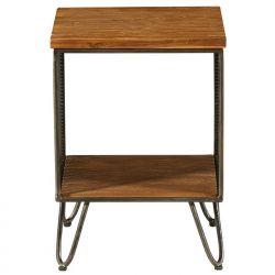 petit meuble teck et fer 36cm Casita MESASEL 10