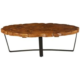 Table basse originale teck 120cm Casita PALATABA 20