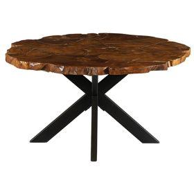 Table repas ronde teck 150cm Casita PALATARO 150