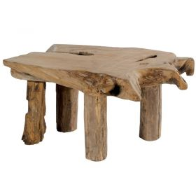 Table basse racine de teck 90cm Farmer Casita FARTABA