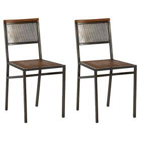 Lot de 2 chaises teck et fer Casita TALCHA