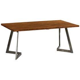 Table teck et métal 180cm Casita TALTA 180