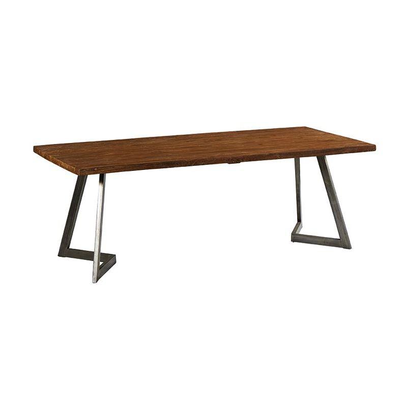Table teck et métal 220cm Casita TALTA 220