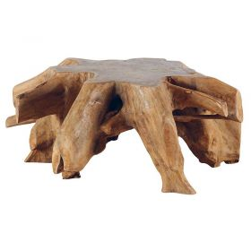Table basse racine de teck 110cm Roots Casita ROOTABA110
