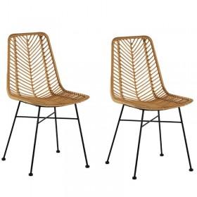 chaises rotin métal Casita CHACOC