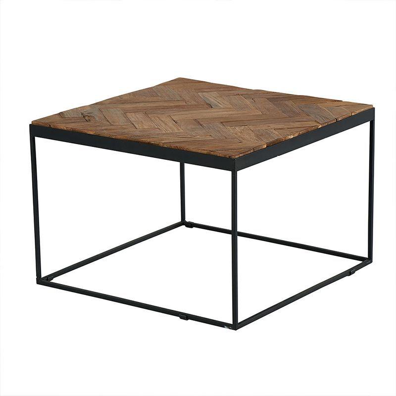 Table basse teck métal 60cm Amki Casita AMTABA 4
