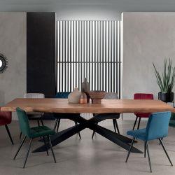Table teck bords naturels 200cm Casita VALTA 200