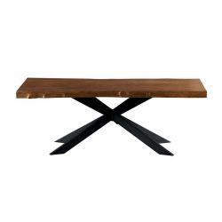 Table teck massif VALTA 200