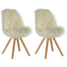 Lot de 2 chaises fourrure synthétique Casita CHAASPFOUBL