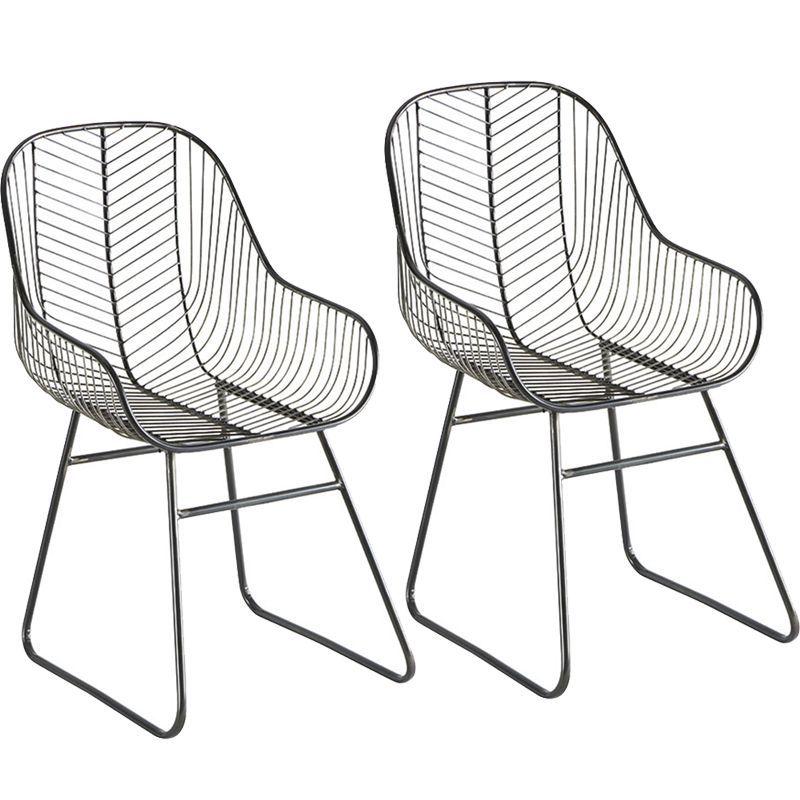 Lot de 2 chaises fer vieilli FAUFERNOIR
