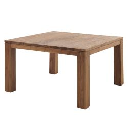 Table repas carrée teck 140cm Casita BORTACA 140