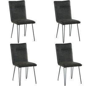 Lot de 2 chaises grise CHA 210GRIFON