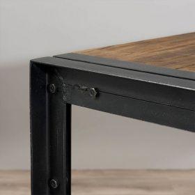 Table à manger industrielle teck et métal d-bodhi SING 200cm