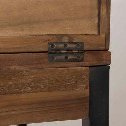 Bureau teck industriel avec rangements d-bodhi SING 140cm