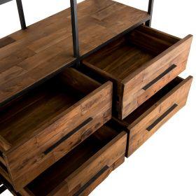 Bibliothèque industrielle bois et métal 110cm SWAN d-bodhi