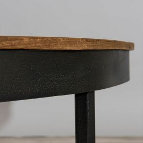 Table basse ronde industrielle 90cm SING D-Bodhi