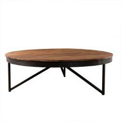 Table basse ronde teck et métal 110cm SING D-Bodhi