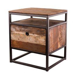 Chevet avec tiroir bois recyclé et métal d-bodhi RING 47 cm