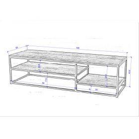 Table basse bois recyclé et métal d-bodhi RING 150cm