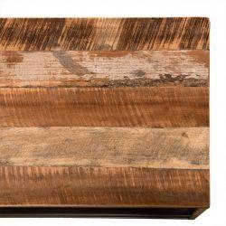 Meuble TV bois et métal 150cm Macabane ALIDA
