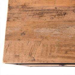 Chevet industriel bois et métal 47 cm Macabane ALIDA