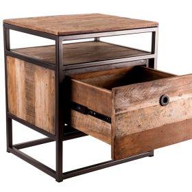 Chevet bois industriel  47 cm Macabane ALIDA