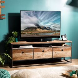 Meuble TV bois recyclé et métal 150cm Macabane ALIDA