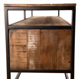 Meuble TV 3 tiroirs bois 150cm Macabane ALIDA