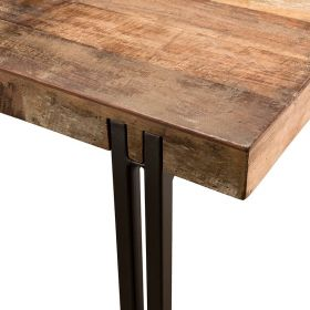 Table repas bois recyclé 200cm Macabane ALIDA