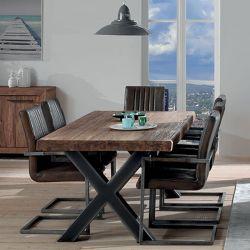 Table pied métal croix 180cm Oregon Casita ORETA180