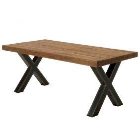 Table teck massif et métal 180cm Oregon Casita ORETA180