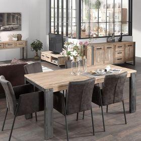 Table moderne bois et métal 150cm Toronto Casita TOTA150