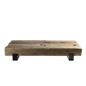 Table basse bois recyclé 160cm Macabane TRAVERSE