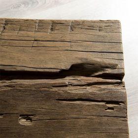 Table basse teck bois épais 160cm Macabane TRAVERSE