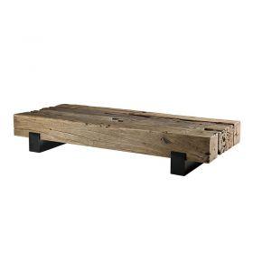 Table basse teck métal 160cm Macabane TRAVERSE