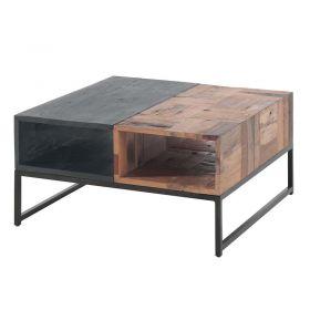Table basse bois recyclé 80cm Casita ALMATABA20