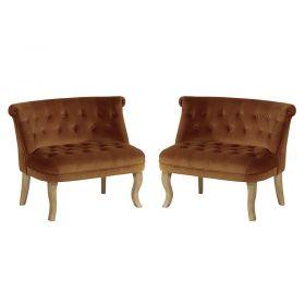Lot de 2 fauteuils tissu rouille Casita FAUDENROUI