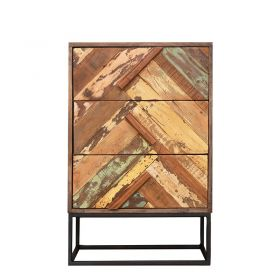Commode bois et métal 62cm RITA