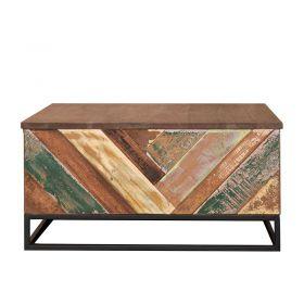 Table basse bois et métal 82cm RITA