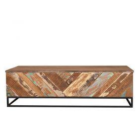 Table basse bois et métal 122cm RITA
